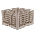 Vollrath TR6BBBBB Traex Full-Size Beige 25-Compartment 11 inch Glass Rack