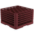 Vollrath TR12HHHHH Traex Rack Max Full-Size Burgundy 30-Compartment 11 7/8 inch Glass Rack