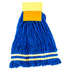 Medium 22 oz. Microfiber String Mop with Scrubber and 5 inch Band - Yellow