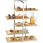 Cal-Mil 3304-60 Bamboo Silver Multi-Level Shelf Display - 28 1/2 inch x 13 1/2 inch x 36 1/2 inch