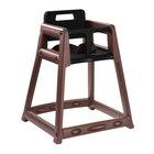 Koala Kare KB850-09-KD Brown Unassembled Stackable Plastic High Chair