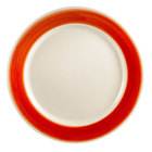 CAC R-5-R Rainbow Plate 5 1/2 inch - Red - 36/Case