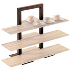 Cal-Mil 1464-48 Brown Three Tier Frame Stand - 18 1/4 inch x 11 inch x 25 inch