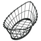 Tablecraft GM1809 Grand Master Oblong Black Wire Basket - 18 inch x 9 inch x 5 1/2 inch