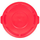 Rubbermaid FG263100RED BRUTE Red 32 Gallon Trash Can Lid