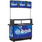 CYK 256 Qt. Illuminated Tri-Canopy Beverage Cart