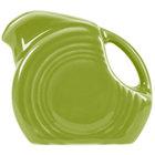 Homer Laughlin 475332 Fiesta Lemongrass 5 oz. Mini Disc Creamer Pitcher - 4/Case