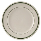 Tuxton TGB-005 5 1/2 inch Wide Rim Rolled Edge Green Bay China Plate 36/Case