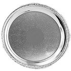 Tabletop Classics TR-11234 16 inch Round Stainless Steel Tray with Gadroon Border and Embossed Center