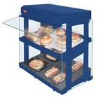 Hatco GRHW-1SGDS Navy Blue Dual Slanted Shelf Heated Glass Mini-Merchandising Warmer - 1330W
