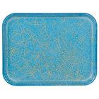 Carlisle 1410DFG029 Customizable 10 inch x 14 inch Glasteel Starfire Blue Fiberglass Tray - 12/Case