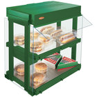 Hatco GRHW-1SGD Hunter Green Dual Shelf Heated Glass Mini-Merchandising Warmer - 1330W