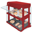 Hatco GRHW-1SGDS Warm Red Dual Slanted Shelf Heated Glass Mini-Merchandising Warmer - 1330W