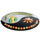 Cal-Mil PT155 15 inch Yin Yang 2 Piece Mirror Tray Set