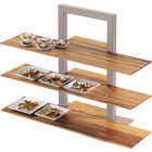 Cal-Mil 1449-60 Bamboo 32 inch x 11 1/2 inch Shelf for 3 Tier Frame Riser