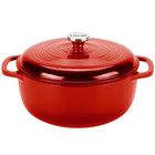Lodge EC6D43 6 Qt. Island Spice Red Color Enamel Dutch Oven