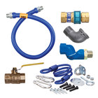 Dormont 1650KITS72 Deluxe SnapFast® 72 inch Gas Connector Kit with Swivel MAX®, Elbow, and Restraining Cable - 1/2 inch Diameter