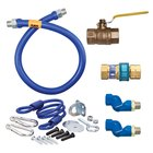 Dormont 1675KIT2S72 Deluxe SnapFast® 72 inch Gas Connector Kit with Two Swivels and Restraining Cable - 3/4 inch Diameter