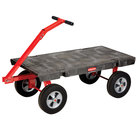 "Rubbermaid 4478 5th Wheel Wagon Platform Truck - 48"" x 24"" (FG447800BLA)"