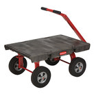 "Rubbermaid 4476 5th Wheel Wagon Platform Truck - 36"" x 24"" (FG447600BLA)"