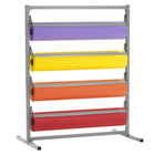 Bulman T369R-20 20 inch Four Deck Tower Paper Rack with Straight Edge Blade