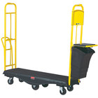 Rubbermaid 9T52 StockMate Restocking Truck (U-boat) with Cardboard Management System - 63 inch x 18 inch (FG9T5200BLA)