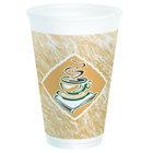 Dart Solo 16X16G 16 oz. Espresso Foam Cup 25 / Pack