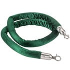 Aarco 6' Green Stanchion Rope with Satin Ends