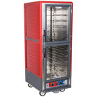 Metro C539-CLDC-U C5 3 Series Low Wattage Universal Slide Heated Holding and Proofing Cabinet with Clear Dutch Doors - Red