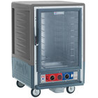 Metro C535-CLFC-4 C5 3 Series Insulated Low Wattage Half Size Heated Holding and Proofing Cabinet with Fixed Wire Slides and Clear Door - Gray
