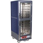 Metro C539-HLDC-U C5 3 Series Insulated Low Wattage Full Size Hot Holding Cabinet with Universal Wire Slides and Clear Dutch Doors - Blue