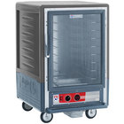 Metro C535-HLFC-L-GY C5 3 Series Insulated Low Wattage Half Size Heated Holding Cabinet with Universal Wire Slides and Clear Door - Gray