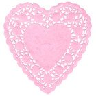 Pink 6 inch Paper Heart Doilies 1000/Case