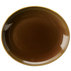 Homer Laughlin 13249392 Bosque Maple 12 inch x 10 5/8 inch Oval Platter - 12/Case