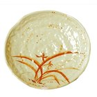 Thunder Group 1810 Gold Orchid 10 1/2 inch Lotus Shaped Melamine Plate - 12/Pack