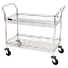 Eagle Group Two Shelf Wire Bussing / Utility / Transport Carts