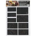 American Metalcraft CSR18 Rectangular Vinyl Chalkboard Labels - 18 / Pack