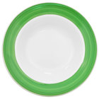 CAC R-120-G Rainbow 26 oz. Green Rolled Edge Pasta Bowl - 12 / Case