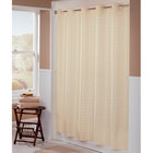 Hookless HBH43LIT05X Beige Litchfield Shower Curtain with Matching Flat Flex-On Rings and Weighted Corner Magnets - 71