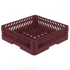 Vollrath TR1AA Traex Full-Size Burgundy 7 1/4 inch Open Rack with 2 Extenders