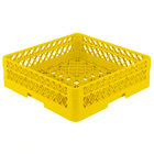 Vollrath TR1AA Traex Full-Size Yellow 7 1/4 inch Open Rack with 2 Extenders