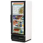 True GDM-12-LD White Glass Door Refrigerated Merchandiser with LED Lighting and Left Door Hinge; 12 Cu. Ft.