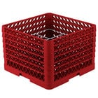 Vollrath PM1211-6 Traex Red 12 Compartment Plate Rack - 10 3/4 inch-11 3/16 inch