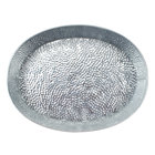 Tablecraft GP129 12 inch x 9 inch Oval Galvanized Steel Diner Platter