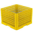 Vollrath PM1211-6 Yellow Traex 12 Compartment Plate Rack - 10 3/4 inch-11 3/16 inch
