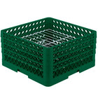 Vollrath PM2209-3 Green Traex 22 Compartment Plate Rack - 7 inch-7 7/8 inch