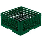 Vollrath PM2006-3 Green Traex 20 Compartment Plate Rack - 4 3/4 inch-6 1/2 inch