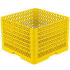 Vollrath PM2011-5 Traex Yellow 20 Compartment Plate Rack - 10 inch-10 3/4 inch