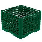 Vollrath PM0912-6 Traex Green 9 Compartment Plate Rack - 11 1/4