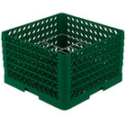Vollrath PM1510-4 Traex Green 15 Compartment Plate Rack